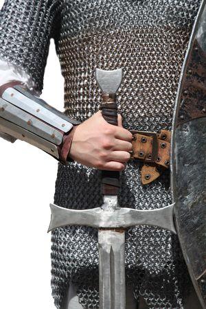 espadas medievales: Caballero y espada