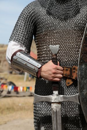 protective suit: Knight and sword