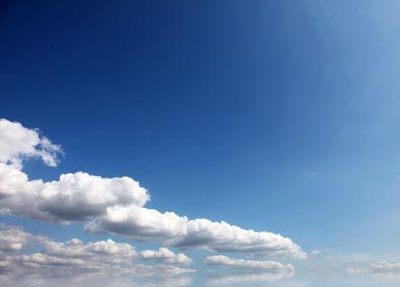 ir: blue sky background