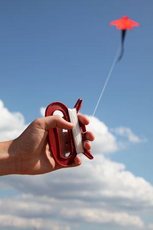 hand keep fly kite photo