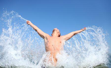 splash boy Stock Photo - 5879092