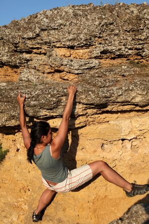 Extreme climbing Stock Photo - 6095729