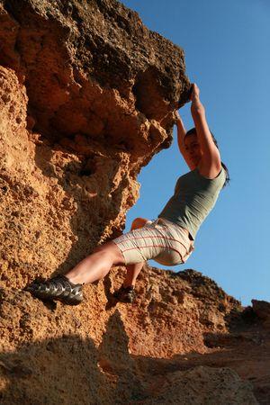 Extreme climbing Stock Photo - 6095705