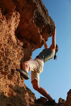 Extreme climbing Stock Photo - 6095711