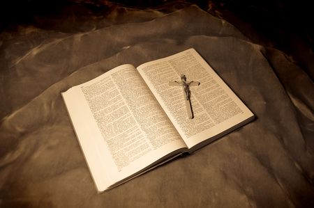 book with crucifixion photo