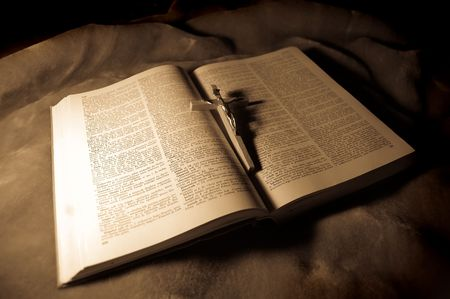 doctrine: book with crucifixion