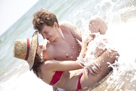 Two lovers at beach. Stock Photo - 7513961