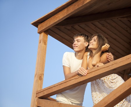 Two lovers looking away Stock Photo - 7594088
