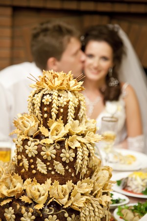 suitor: Russian pie and groom and bride