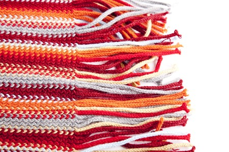 Close-up view at red scarf. Stock Photo - 7946749