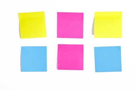 Colour notes at white background. Stock Photo - 7946753