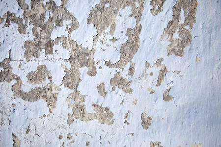 plaster mould: Old Cracked and shabby blue wall for background.
