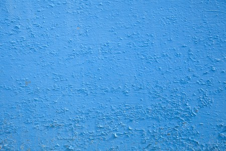 plaster mould: Old blue wall for background. Stock Photo