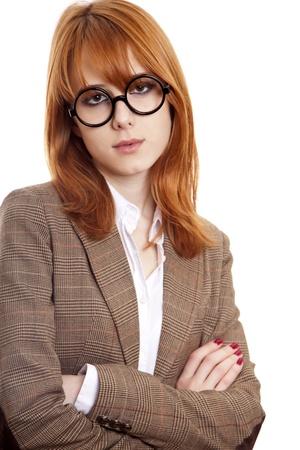 funny glasses: Funny girl in glasses.