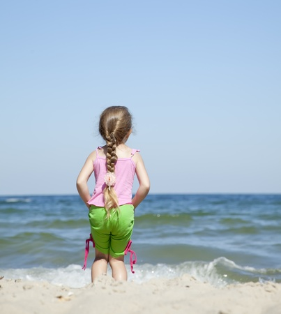 Happy child at the summer beach. Stock Photo - 9621530