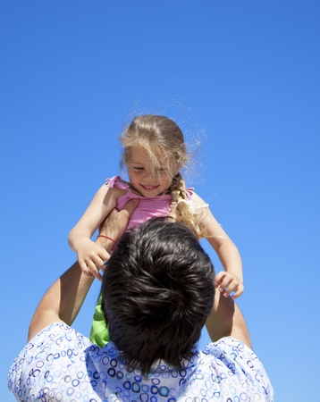 Father and daughter at outdoor. Stock Photo - 9621533