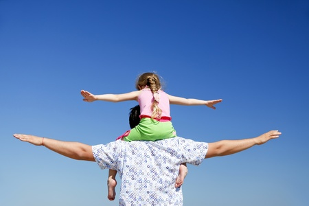 Father and daughter at outdoor. Stock Photo - 9621531