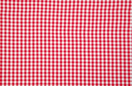 Real white and red tablecloth photo