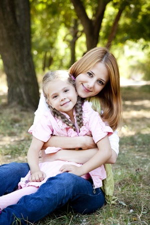 Mother and daughter at the park. Stock Photo - 10715470