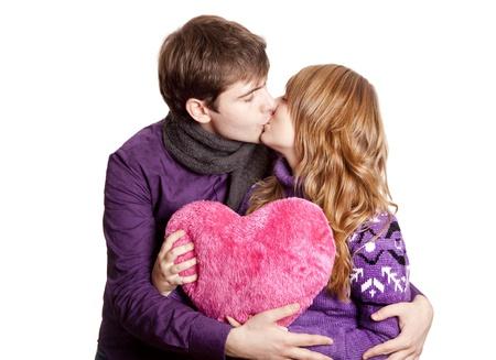 Couple kissing. Studio shot. Stock Photo - 11410139