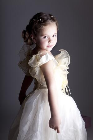 innocent: Portrait of cute little girl