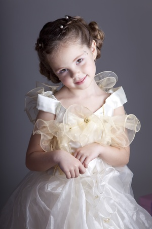 Portrait of cute little girl photo