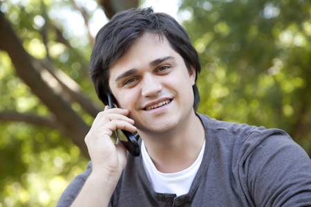 Men with mobile phone. Stock Photo - 11851429