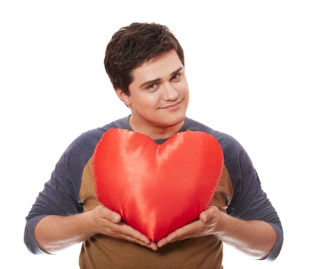 Style man with heart. Studio shot. Stock Photo - 14010656
