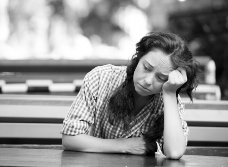 Hipster girl in depression. Stock Photo - 14206996