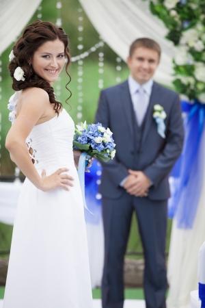 beautiful wedding couple photo