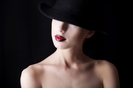 Fashion women in hat photo