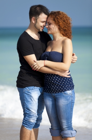 Couple at the beach  photo