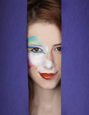 Beautiful redhead girl with make-up. Stock Photo - 16824859