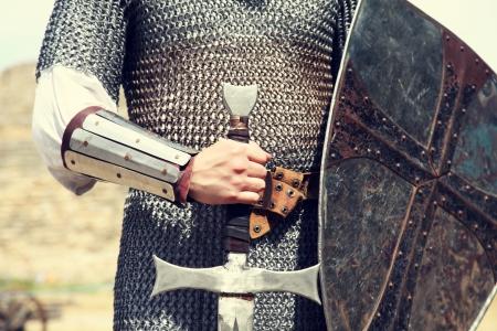 rycerz: Knight. ZdjÄ™cia w stylu vintage