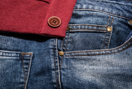 Jeans pocket for background Stock Photo - 21111746