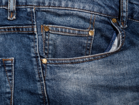 Jeans pocket for background Stock Photo - 21111747