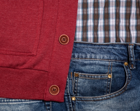 Jeans pocket for background Stock Photo - 21111748
