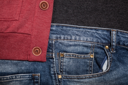 Jeans pocket for background Stock Photo - 21111751