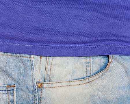 Jeans pocket for background Stock Photo - 21111752