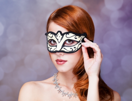 Fashion women with mask. photo