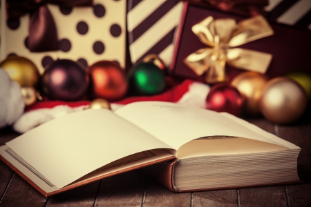 Book and christmas gifts photo