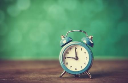 wood tick: Retro alarm clock. Photo in retro color image style