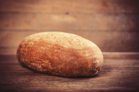 tommy: Delicious bread on a wood table