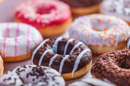 Donuts in box.
