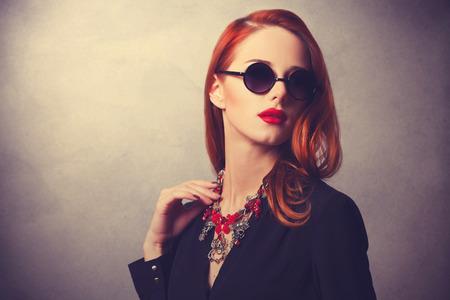 мода: Портрет в стиле рыжий женщин Фото со стока