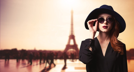 Girl with sunglasses and Parisian