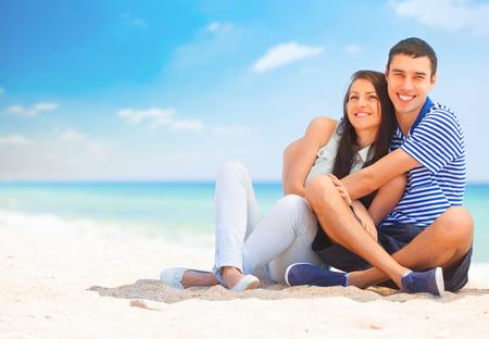 Beautiful couple on the beach.