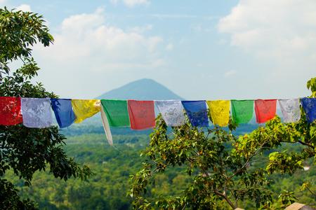 buddhist: Color buddhist praying flags, Sri Lanka
