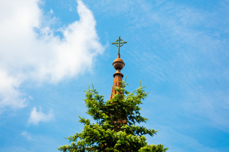 rood: photo of the beautiful cross on the rood of the building in Poland