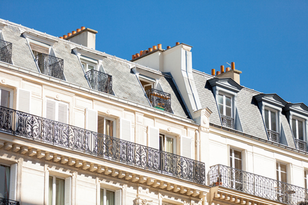 jalousie: PARIS, FRANCE - September 24, 2013: beautiful view on wonderful top of building on sky background Editorial